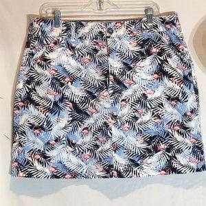 Christopher & Banks Flamingos Cotton Skirt Size 14